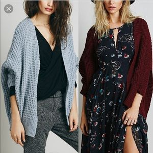 Free People Breeze Cardigan Merlot Size Medium